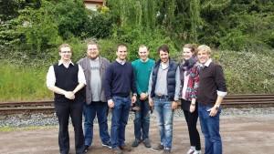 v.l. Tobias Paetz, Jens Schäfer, Marcel Hürter MdL, Jörn Kampmann, Marcel Werner, Sandra Bell, Christoph Schmitt